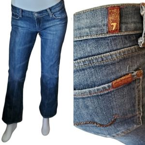 7FAM bootcut low rise embellished pocket jeans